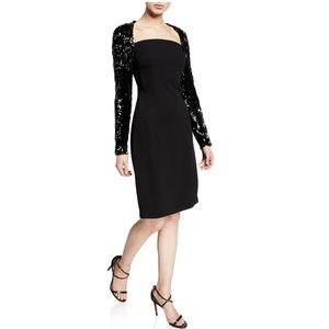 ca6cbdec5b65 NK32 Naeem Khan Sequin Long Sleeve Dress